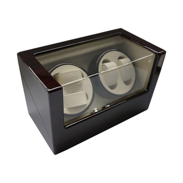 Caixa luxuosa do Winder do relógio, 2018 melhor exposição do Winder do relógio do presente para relógios de tipoResgate do caso 4 relógios de madeira da laca da grade Rotate