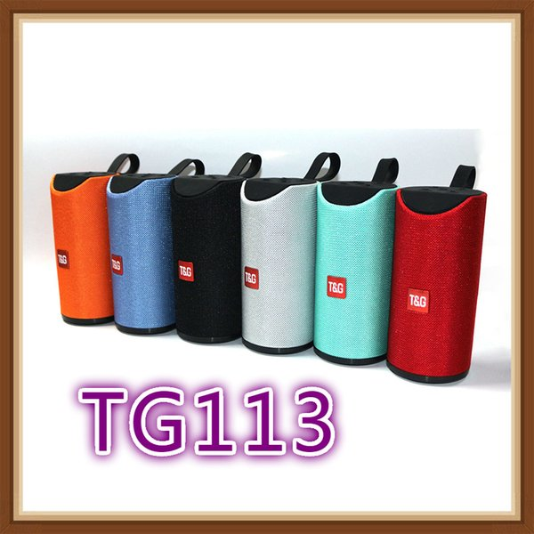 best selling TG113 Loudspeaker Bluetooth Wireless Speakers Subwoofers Handsfree Call Profile Stereo Bass bass Support TF USB Card AUX Line In Hi-Fi Loud