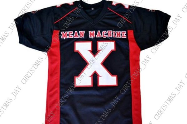 wholesale Battle X Mean Machine Longest Yard Movie New Football Jersey Black Stitched Custom any number name MEN WOMEN YOUTH Football JERSEY