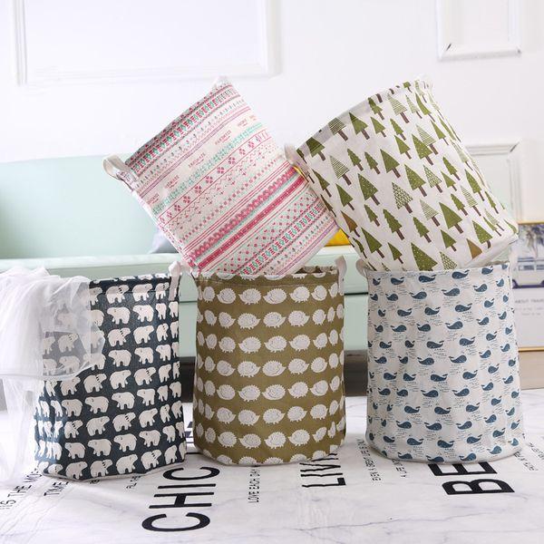 Paño de arte plegable cesto de la ropa sucia papelera cesta de la ropa sucia