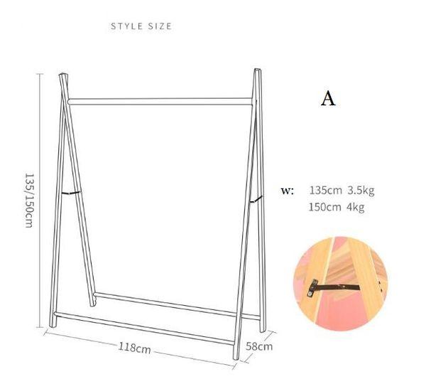 A 118 * 58 * alto 150cm de madera