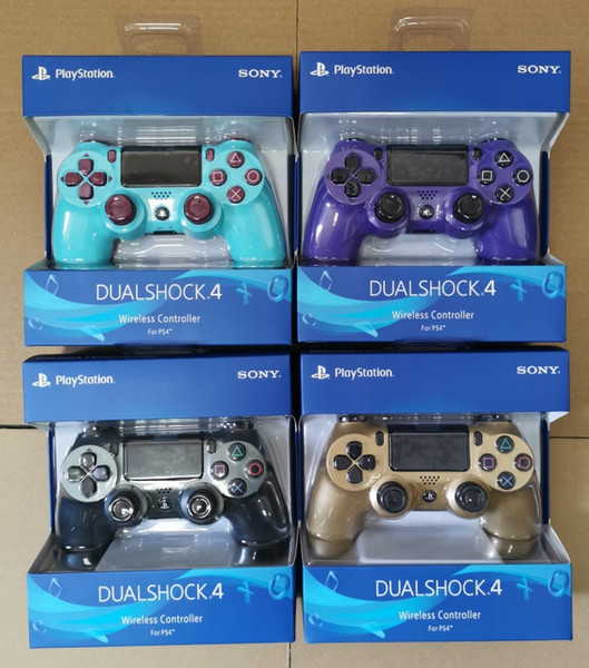 top popular HOT PS4 Wireless Controller For PlayStation 4 PS4 System Game Console Gaming Controllers Games Joystick with Retail package 2020