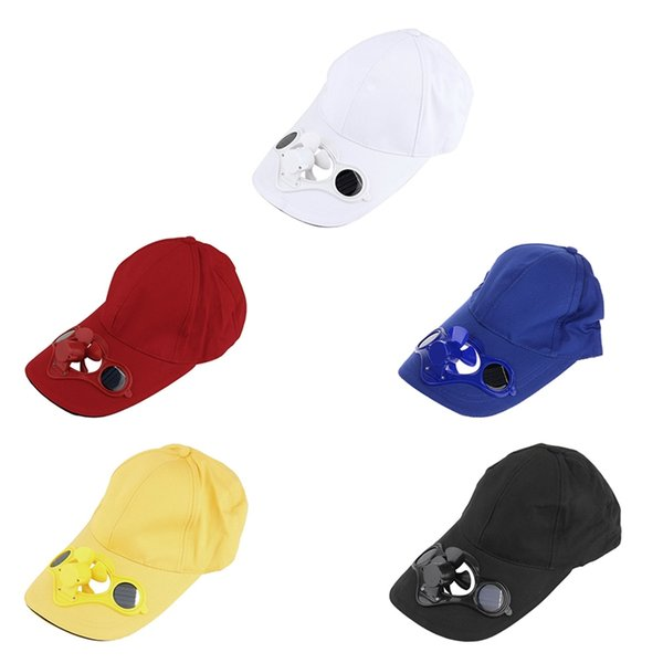 Outdoor Bicycle Climbing Small Fan Baseball Golf Hat Summer Sports Caps Solar Solar Cooling Fan