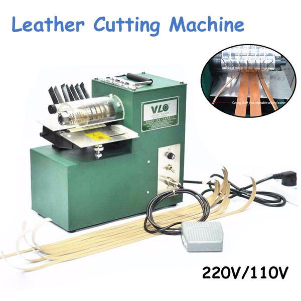 top popular Leather Cutting Machine 220V 110V Electrostatic Strip Making Machine 1400r min Leather Cutter 2020