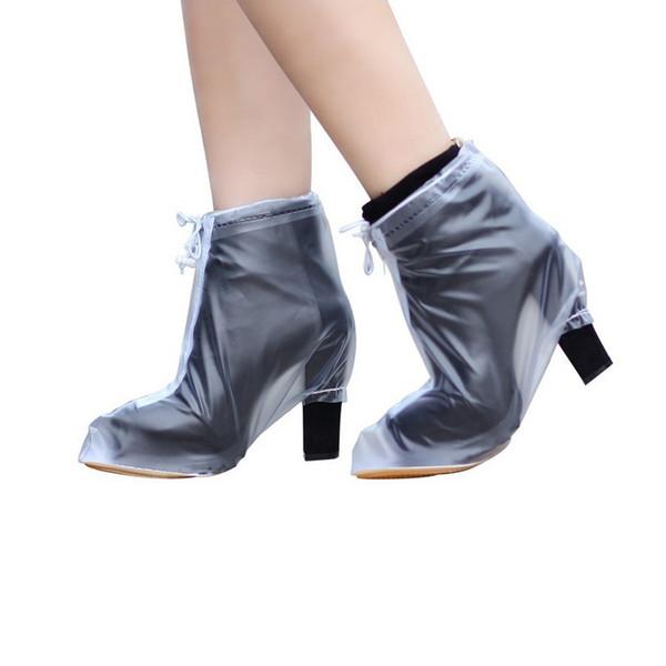 1 Pair Women's High-heeled Waterproof Rain Boots Stiletto Non-slip Wear-Resistant Tendon Bottom Rainy Season Anti-dirty Rain
