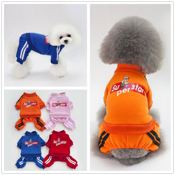 Pet dog clothes Sweater Puppy clothes skateboard kid sweater four feet autumn and winter loaded Teddy pet small dog Bomei pet supplies