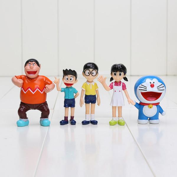 oys Hobbies Action Toy Figures 5pcs/lot Doraemon figures 5-7CM Nobita Nobi Figure PVC Dolls Shizuka Minamoto Takeshi Goda Dorami Doraniko...