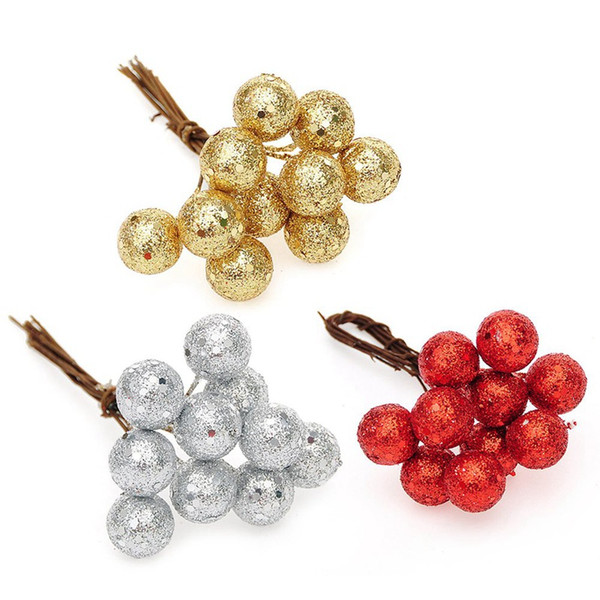 Christmas Tree Gold And Silver Decorative Cuttings Christmas Fruit Hanging Fruit Ball Event Party Ornament For Home New Year