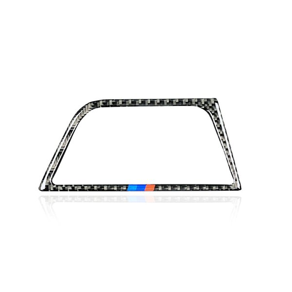 Fashion Car Styling Carbon Fiber Car Center Console Air Outlet Air Conditioning Vent Decorative Copilot Cover Frame Stickers for bmw f30 f34