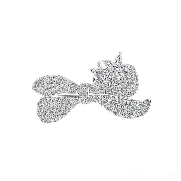Nouvel arc fleur broche goupille en cuivre bijoux de mode fête de mariage gentilhomme amour ornent le meilleur cadeau pour les amis et la famille
