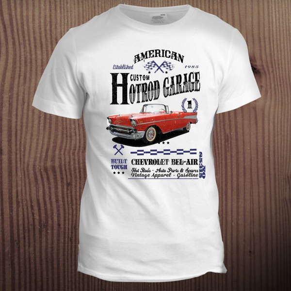 Compre Bel Air Classic Hot Rod Muscle Car Sports Vintage 70s 80s Cafe Racer  Camiseta Verano O Cuello Camiseta, Envío Gratis Camiseta Barata, 2019