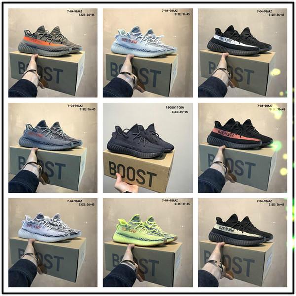 top popular 2020 Kanye West Eva-boosts Zebra White V2 Clay True Form Hyperspace cloud white Citrin 350 V2 shoes A08889 2020