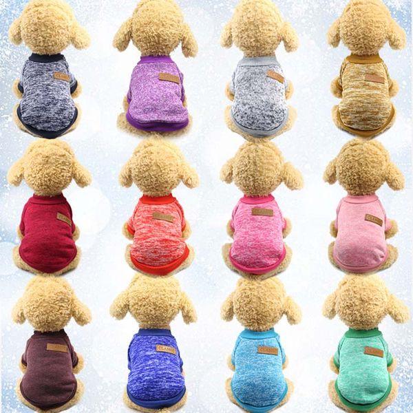 뜨개질 개 의류 의류 가을 겨울 애완 동물 강아지 스웨터 코트 의류 클래식 후드 방어 강아지 고양이 스웨터 강아지 셔츠 WX9 - 1329