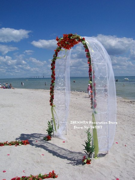 Белый металл Свадебная арка беседка сад фон стенд Цветочная рамка брак DIY украшения партии 240x140 см