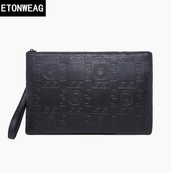 Фабрика прямой бренд мужская сумка мода тиснением кожа бизнес ручной сцепления повседневная кожа мужчины конверт сумка большой емкости мужские хранения walle