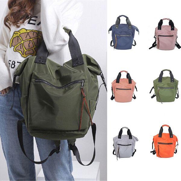 40#Bags Women Girls Solid Waterproof Handbag Shoulder School Satchel Shoulder Bag Messenger Bag
