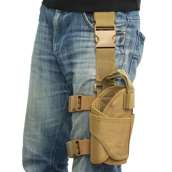Táctico Puttee Pierna del muslo para la funda de pistola Bolsa envuelta Bolsa exterior Senderismo Llave Mini Paquete de herramientas # 273439