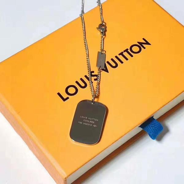 Brand jewelry couple pendant necklace men and women locks charm necklace fashion titanium steel necklace 2019