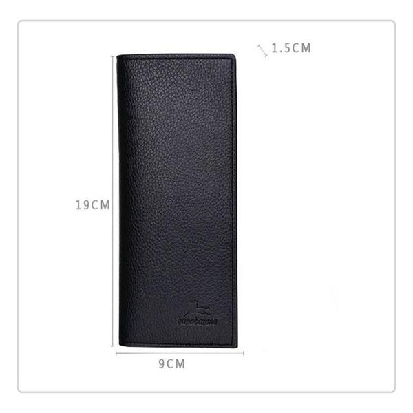 Men Vintage Look Long Bifold Wallet PU Leather Male Purse Card Case Cash Holder Money Clip Business Wallet