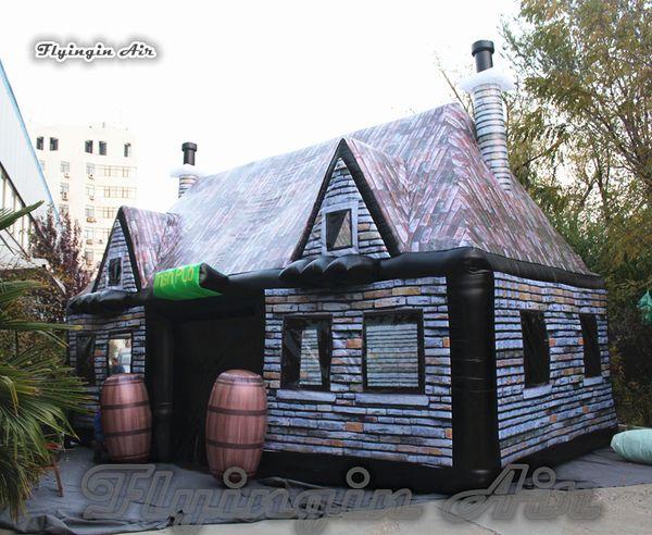 Ao ar livre Inflável Pub 8 m Longo Airblown Jardim Barraca de Acampamento Festa Pop Up Bar Casa Para Família Festa E Evento