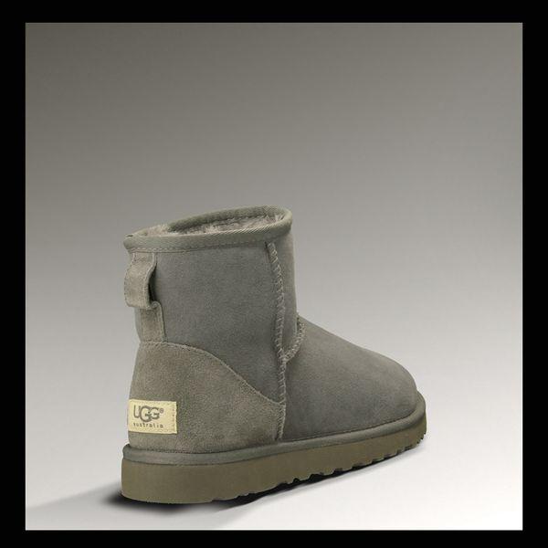 Winter Schneeschuhe Für Frauen ug 100% Echtes Rindsveloursleder designer Australien Warme Schuhe botas classic mini kurze stiefel grau