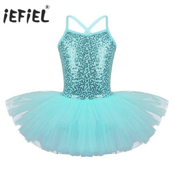 tutu costumes iEFiEL Girls Fancy Costume Tutu Dancewear Teen Kids Ballerina Gymnastics Leotard for Girls Professional Ballet Dress