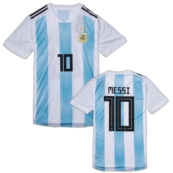 Player Version Argentina Soccer Jersey 2018 World Cup #10 MESSI # 21 DYBALA Uniform 2018 KUN AGUERO DI MARIA MASCHERANO Football Shirt