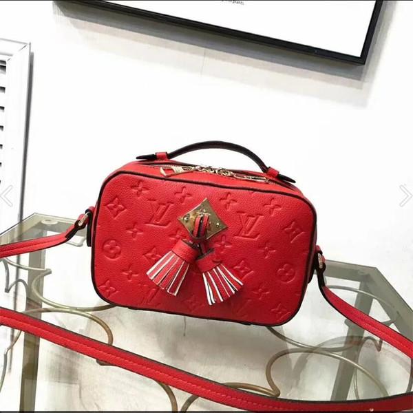 Womans New Satteltasche Echtes Leder-Handtaschen-Oblique Schultertasche Designers Umhängetasche Messenger Bags Wallet Christian Taschen Frauen-Geldbeutel B028