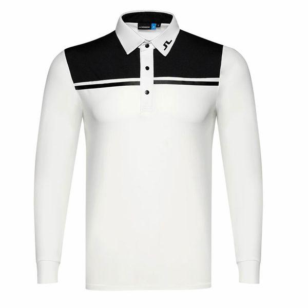 top popular New men Dust_Proof Golf Shirt Latest Spring summer JL Golf sports shirt Full Sleeves Anti-Pilling Short Golf T-Shirt Free shipping 2019