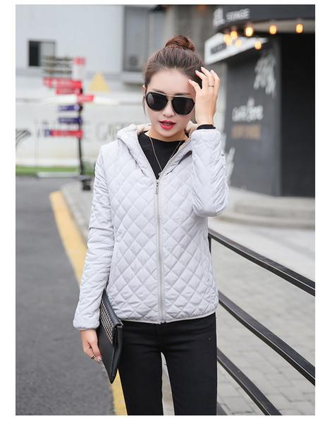 Moda Kış Temel Ceketler Kadın Kalın FLeece Kadife Kuzu Kapüşonlu Mont Pamuk Ceket Bayan Dış Giyim Coat