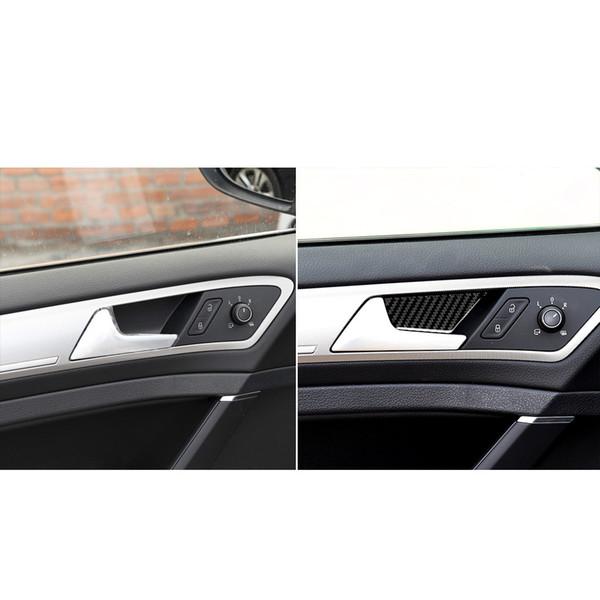 Diseño de moda Car-styling para Volkswagen VW Golf 7 GTI R GTE GTD MK7 2013-2017 Manija de la puerta Tazón de fibra de carbono Adhesivos decorativos Cubiertas Accessori