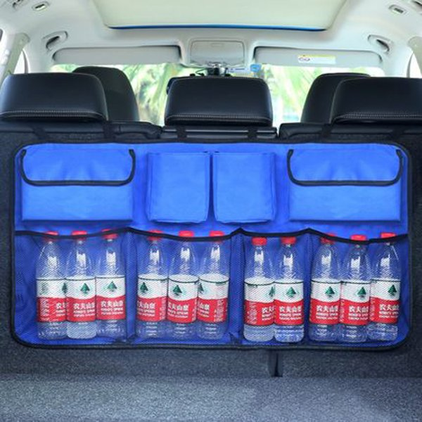 nterior Accessories Stowing Tidying Oxford 600D Car Trunk Organizer Water Bottle Storage Bag Mesh Nets Universal Size Back Seat Hanging P...