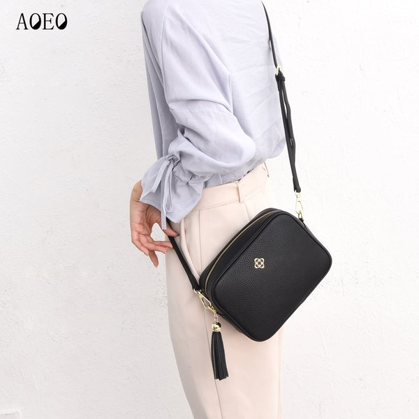Aoeo bayanlar crossbody çanta lüks çanta kadın omuz çantaları tasarımcı hakiki deri büyük dana derisi messenger çanta kadın kızlar y190606