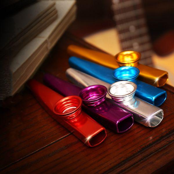 top popular Simple Design Lightweight Kazoo Aluminum Alloy Metal For Guitar Instrument Music Lovers Instrument 12*2.5cm 6 Colors Optional 2021