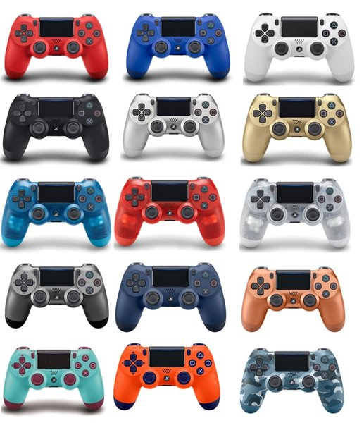 best selling 14 colors PS4 Wireless Controller For Sony PlayStation 4 Game System Gaming Controllers Games Joystick with Logo Retail Box