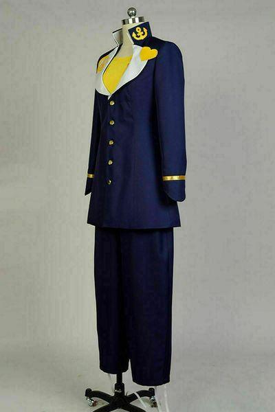 JoJo's Bizarre Adventure Josuke Higashikata Cosplay Costume Outfit Suit Cos
