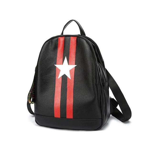 Designer-4958Free Shipping 2018 Hot New Arrival Fashion Women School Bags Hot Punk Style Men Backpack Designer Backpack PU Leather Lady Bags
