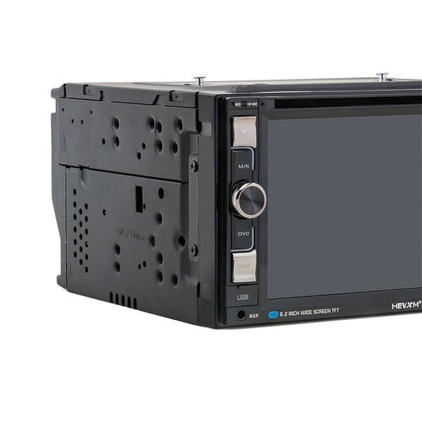 HEVXM HE - 6610 Reproductor de DVD estéreo para auto con pantalla táctil de alta definición de 6.2 pulgadas