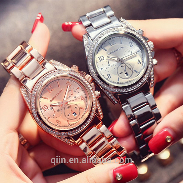HM-1107 NEW Stainless Steel Women Wrist Watch Japan Movement Quartz Watches for Women