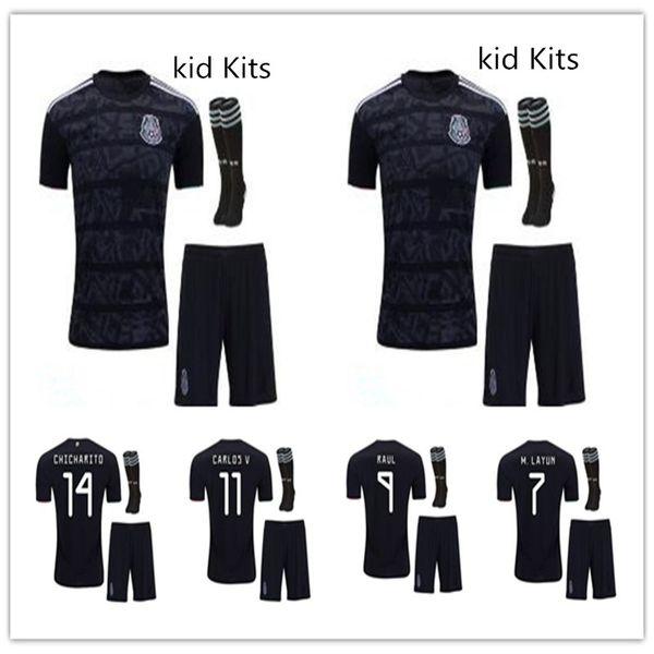 07c99dfd08b KIDS KIT 2019 Mexico soccer jersey 19 20 Camisetas CHICHARITO LOZANO MARQUEZ  DOS SANTOS HERRERA GUARDADO