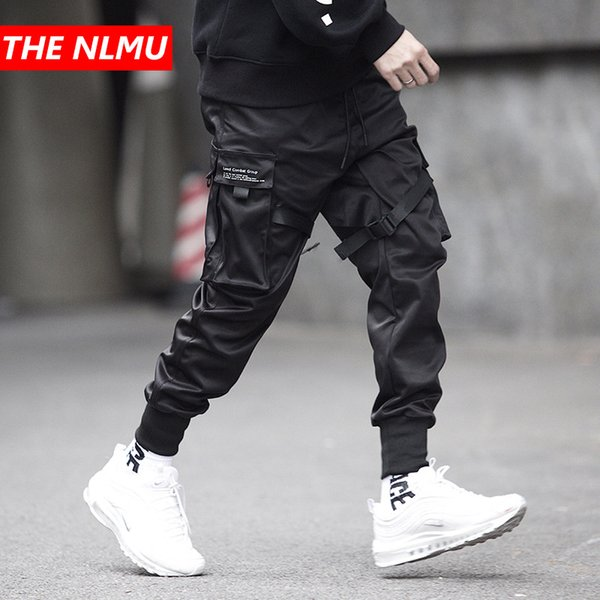 Men Multi-pocket Elastic Waist Design Harem Pant Men Streetwear Punk Hip Hop Casual Trousers Joggers Male Dancing Pant Gw013 Y190413