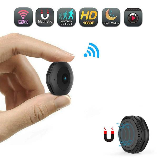 Nuova videocamera con microfono wireless Videocamera portatile con telecamera di sicurezza HD 1080P Piccola videocamera di sicurezza Telecamera per interni con videocamera per visione notturna e rilevamento del movimento