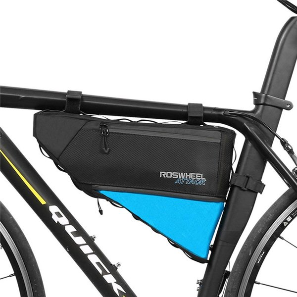 4L Bike Bag Waterproof Front Frame Tube Mountain Cycling Triangle Pouch Road Travel Folding Nylon Tear Resistant Bicycle Bags