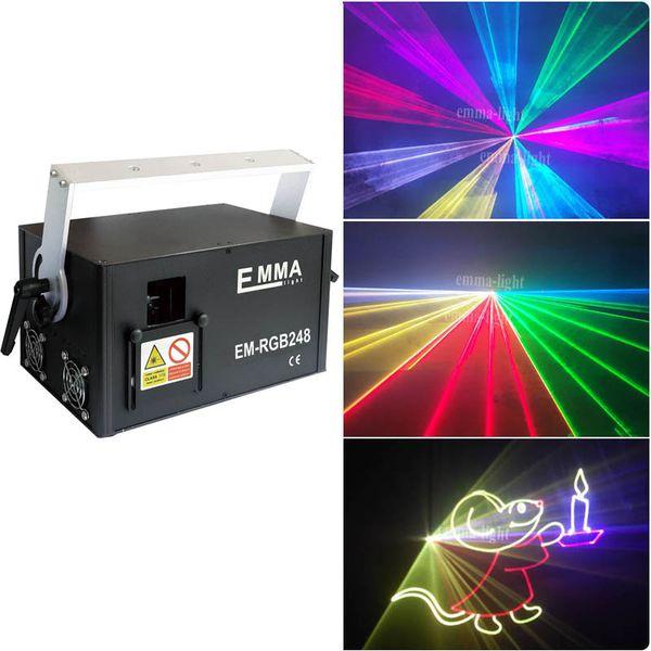 DMX 512 Mini 3000mW 3 watt RGB Full Color Laser Stage Lighting Scanner DJ Dance Party Show Projector Lights