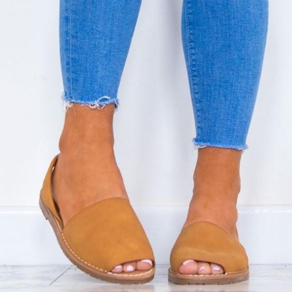 Sandales Pour Femmes Chaussures Gladiator Chaussures Flattie Tongs Slingback Rétro Peep-Toe Open Toe Casual