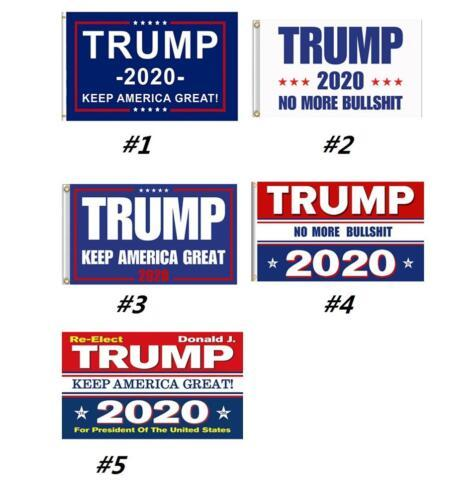 top popular Trump 2020 Flag Donald Keep America Great President USA Two Sides Printed Flag Confederate Rebel Civil War Flag National Polyester 5X3 FT 2019