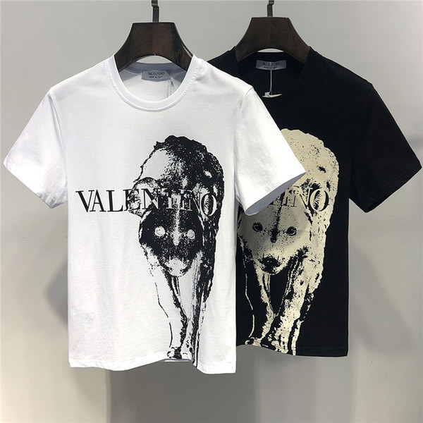 2019 Verão Nova Chegada de Qualidade Superior Valen Designer de Vestuário T-shirt das Mulheres dos homens de Impressão T-shirt M-3XL 6401