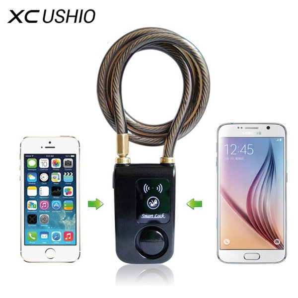 Yeni Süper Akıllı Telefon APP Kontrolü Akıllı Alarm Bluetooth Kilidi Su Geçirmez 110dB Alarm Bisiklet Kilidi Açık Anti Hırsızlık # 26250