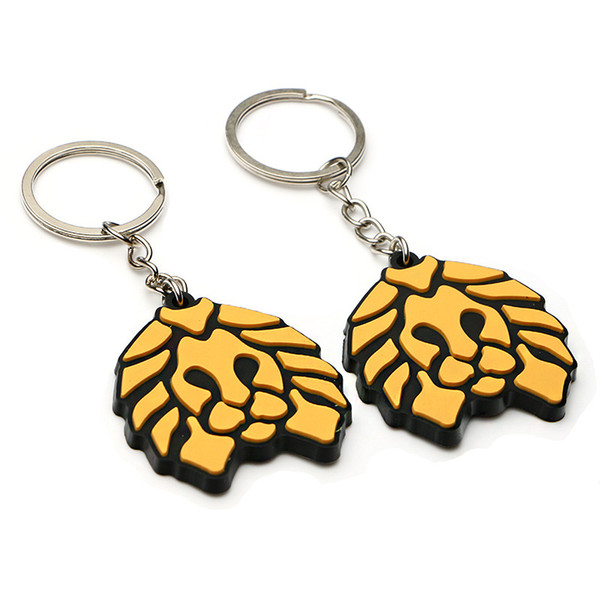wholesale Little Lion PVC Key Ring Soft Glue Comic And Animation Pendant Boys And Girls Creative Gifts