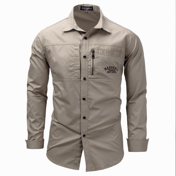 Herren Umlegekragen Ärmel Einreihiges Hemd Herrenbekleidung Plus Größe M-3XL